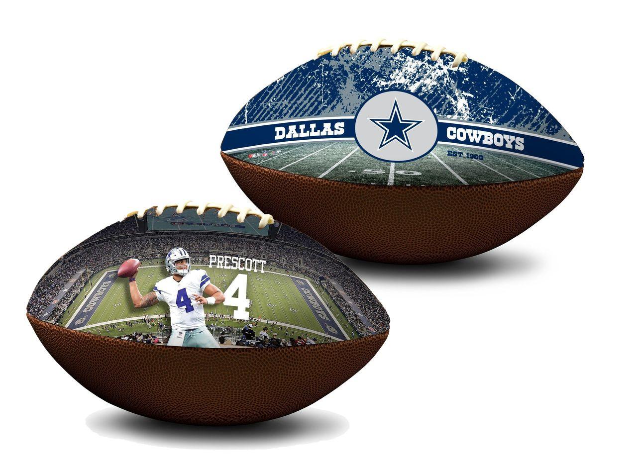 54b7db35 Dak Prescott Dallas Cowboys NFL Full Size Official Licensed Premium Football