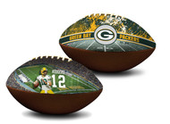 Aaron Rodgers Green Bay Packers NFL Full Size Official Licensed Premium Football