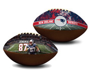 Rob Gronkowski New England Patriots NFL Full Size Official Licensed Premium Football