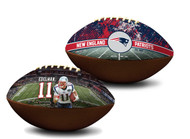 Julian Edelman New England Patriots NFL Full Size Official Licensed Premium Football