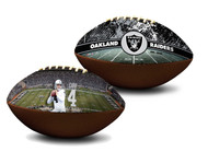 Derek Carr Oakland Raiders NFL Full Size Official Licensed Premium Football