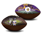 Kirk Cousins Minnesota Vikings NFL Full Size Official Licensed Premium Football