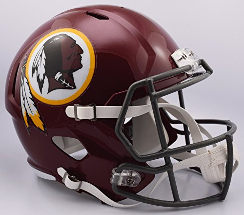 new style 53279 3c08a Washington Redskins NFL Retro Tribute Color Rush SPEED Riddell Full Size  Replica Football Helmet