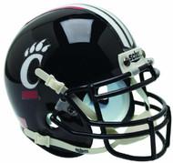 Cincinnati Bearcats Alternate Black Schutt Mini Authentic Football Helmet