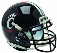 Cincinnati Bearcats Alternate Black Schutt Mini Authentic Football Helmet