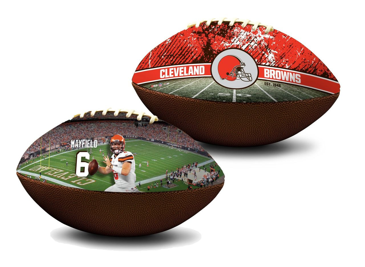 dd6b6852 Baker Mayfield Cleveland Browns NFL Full Size Official Licensed Premium  Football