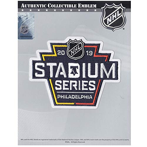 2019 Official NHL Stadium Series Game Jersey Collectible Patch - Philadelphia  Flyers vs. Pittsburgh Penguins. National Emblem. Image 1 7f9efd03b