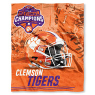 "Clemson Tigers 2019 National Champions Silk Touch Throw Blanket Size 50"" x 60"""