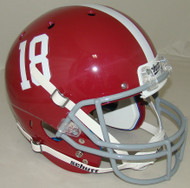 Alabama Crimson Tide #18 Schutt Full Size Replica Football Helmet