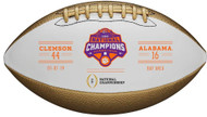 Wilson Clemson Tigers College Football Playoff 2018 National Champions Metallic Commemorative Football