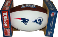 Super Bowl LIII (53) Official White Panel Dueling Autograph Mini Football by Wilson (Boxed)