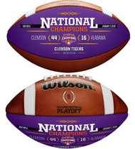 Clemson Tigers College Football Playoff 2018 National Champions Leather Commemorative Football