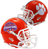 Clemson Tigers College Football Playoff 2018 National Champions Revolution Speed Mini Football Helmet