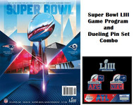 SUPER BOWL 53 LIII Game Program and Lapel Pin Set Combo