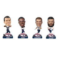 NFL New England Patriots Super Bowl LIII Champions Mini Bobbleheads 4-pack Set