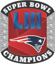 Super Bowl LIII (53) New England Patriots Champions Diamond Lapel Pin