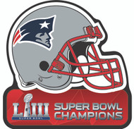 Super Bowl LIII (53) New England Patriots Champions Football Helmet Magnet