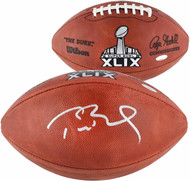 Autographed New England Patriots Tom Brady Authentic Super Bowl 49 XLIX NFL Football