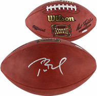 Autographed New England Patriots Tom Brady Authentic Super Bowl 38 XXXVIII NFL Football