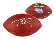 Autographed New England Patriots Tom Brady Authentic Super Bowl 36 XXXVI NFL Football