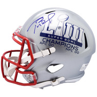 Autographed New England Patriots Tom Brady Super Bowl 53 LIII Authentic Speed Revolution Full Size NFL Football Helmet