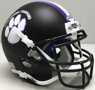 Clemson Tigers Black 2018 CFP NCAA National Champions Schutt Authentic Mini Football Helmet