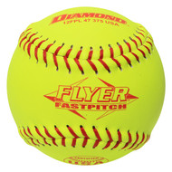 Dozen 12 Inch Leather Cover Fastpitch Softballs, Polyurethane Core, USA Stamped, Model 12FPL 47 375 USA