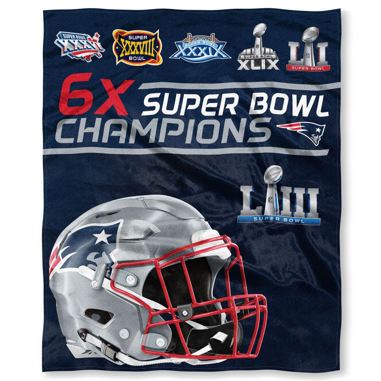 41e7c7562cb New England Patriots The Northwest Company 6 X Super Bowl Champions 50