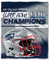 "New England Patriots The Northwest Company Super Bowl 53 LIII Champions 50"" x 60"" Silk Touch Blanket"