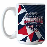 New England Patriots Super Bowl LIII Champions 15oz. ROSTER Coffee Mug