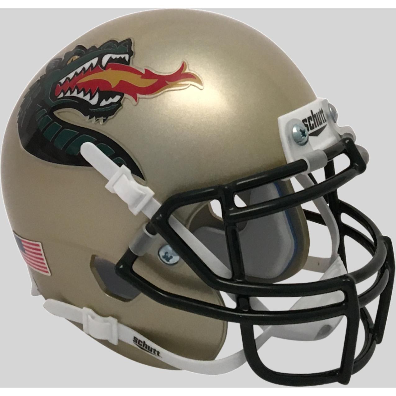 13bdc7e0d5e UAB Alabama-Birmingham Blazers Alternate Gold Schutt Mini Authentic Helmet.  Schutt · Image 1