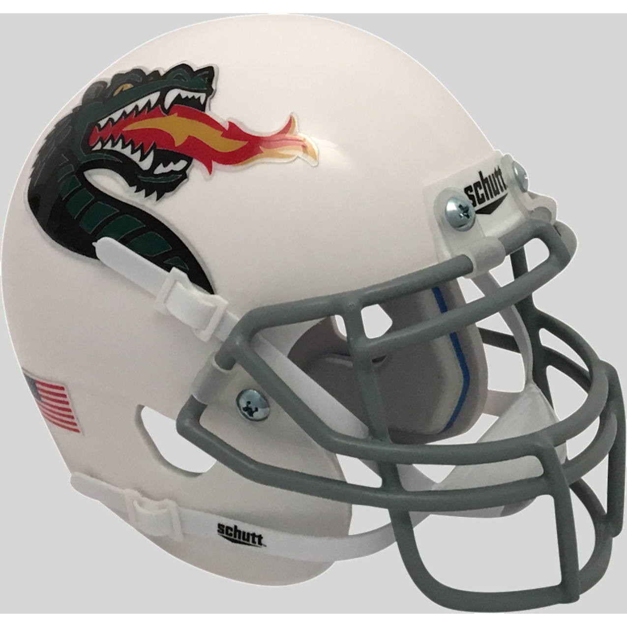 d83ca5f24a8 UAB Alabama-Birmingham Blazers Alternate 3 White Schutt Mini Authentic  Helmet. Schutt. Image 1