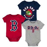 Boston Red Sox Toddler 3-Pack Baby Onesie Bodysuit Creeper Set