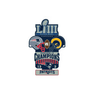 Super Bowl LIII 53 Commemorative Lapel Pin - New England Patriots vs. Los Angeles Rams