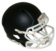 Matte Black with White Mask Blank Riddell Revolution SPEED Mini Football Helmet