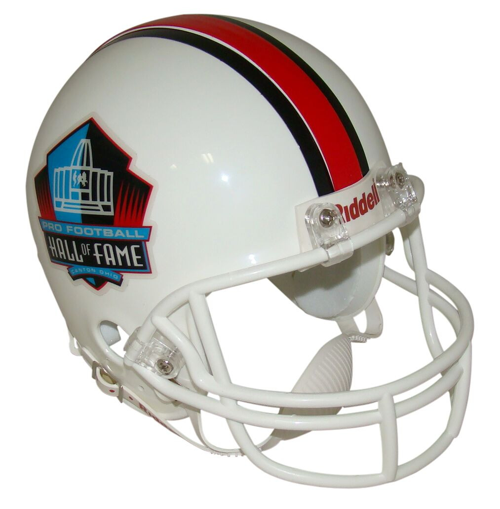 52a91524 NFL Hall of Fame Riddell Mini Football Helmet with White Mask