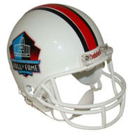 NFL Hall of Fame Riddell Mini Football Helmet with White Mask