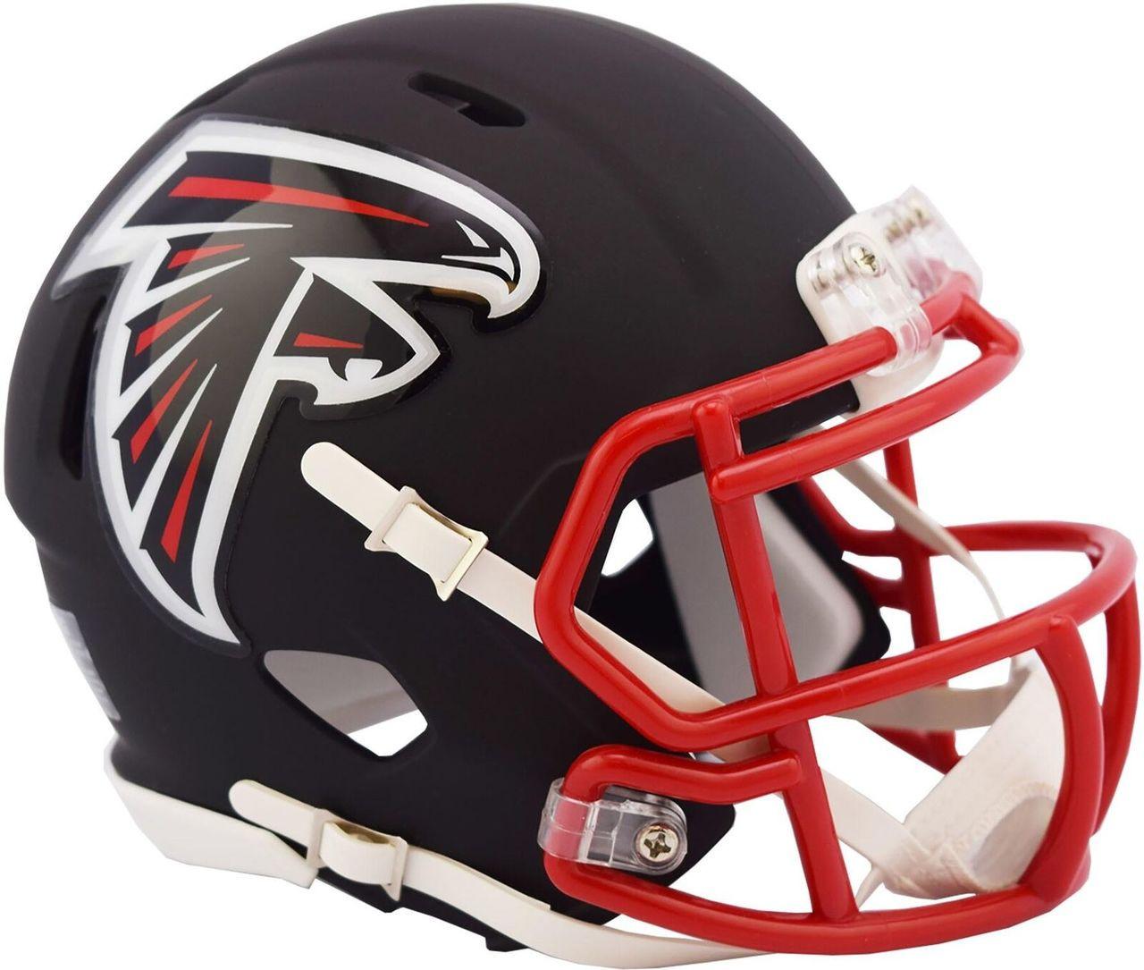 super popular 7474d f4b63 Riddell Atlanta Falcons Black Matte Alternate Speed Mini Football Helmet