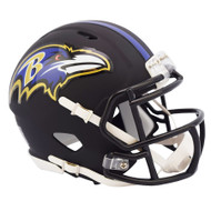Riddell Baltimore Ravens Black Matte Alternate Speed Mini Football Helmet