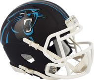 Riddell Carolina Panthers Black Matte Alternate Speed Mini Football Helmet