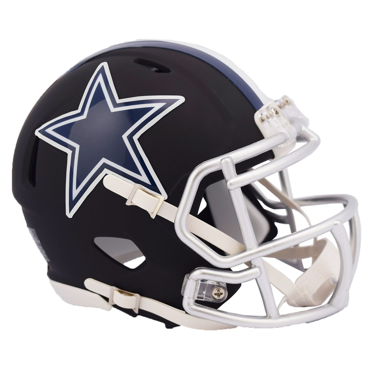 8da7d7d75 Riddell Dallas Cowboys Black Matte Alternate Speed Mini Football Helmet.  Riddell. Image 1