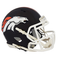 Riddell Denver Broncos Black Matte Alternate Speed Mini Football Helmet