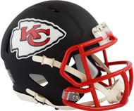 Riddell Kansas City Chiefs Black Matte Alternate Speed Mini Football Helmet