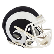Riddell Los Angeles Rams Black Matte Alternate Speed Mini Football Helmet