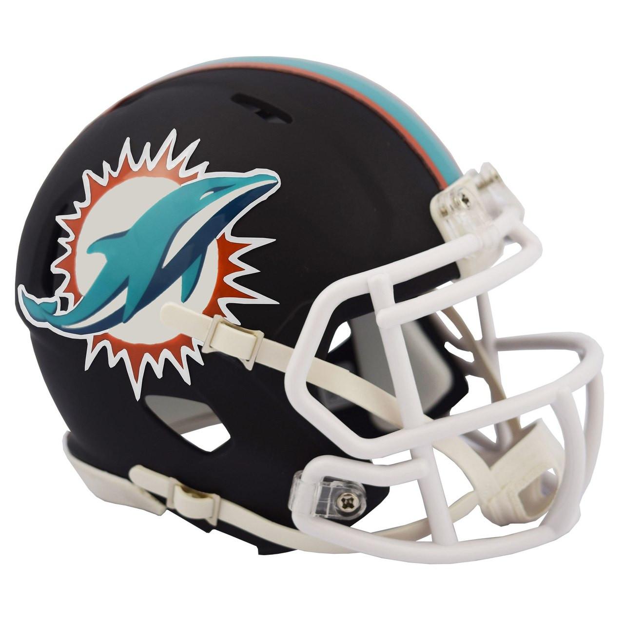 945ff913 Riddell Miami Dolphins Black Matte Alternate Speed Mini Football Helmet