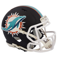 Riddell Miami Dolphins Black Matte Alternate Speed Mini Football Helmet