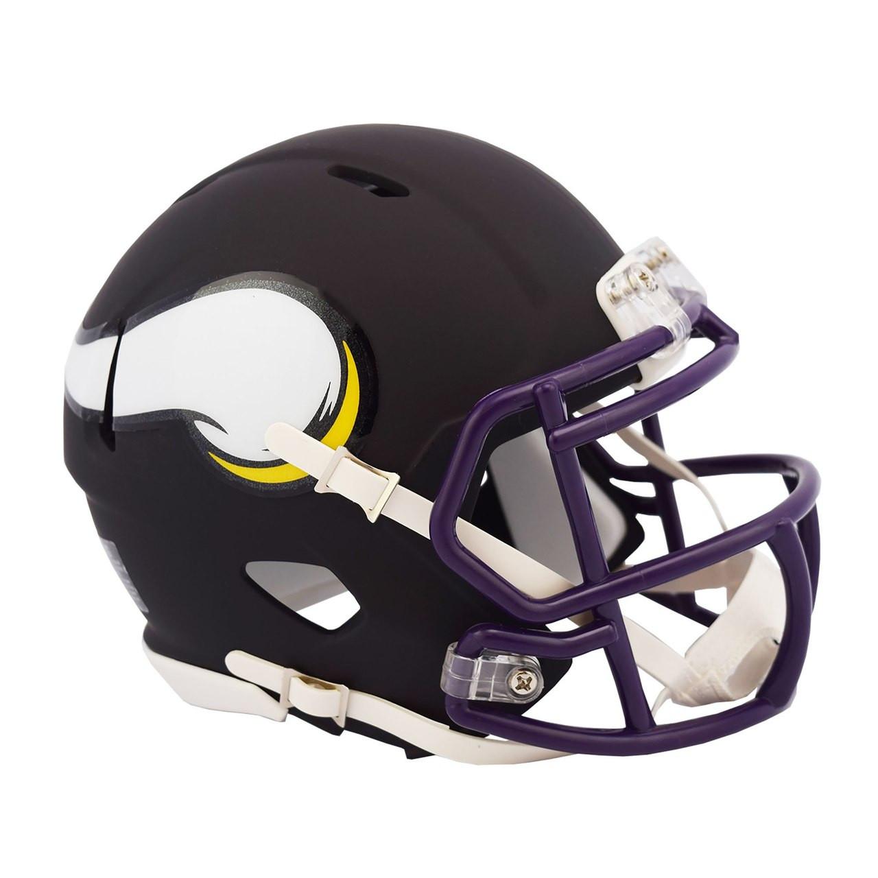 fa8acc5deb68e5 Riddell Minnesota Vikings Black Matte Alternate Speed Mini Football Helmet.  Riddell. Image 1