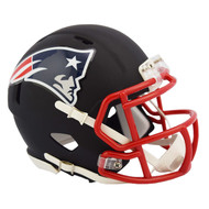 Riddell New England Patriots Black Matte Alternate Speed Mini Football Helmet