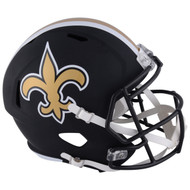Riddell New Orleans Saints Black Matte Alternate Speed Mini Football Helmet