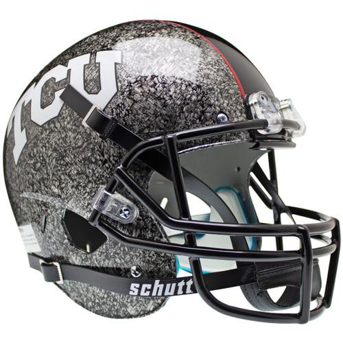 TCU Texas Christian Horned Frogs Alternate Silver Slate Schutt Full Size Replica XP Football Helmet